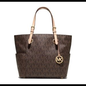Michael Kors Monogrammed Shoulder Bag